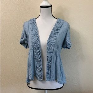 UO• Kimchi Blue Polka Dot Short Sleeve Cardigan